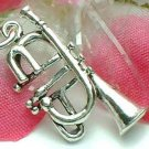 925 STERLING SILVER FRENCH TRUMPET CHARM / PENDANT