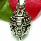 925 STERLING SILVER EGG SHAPE PRAYER / PILL BOX PENDANT