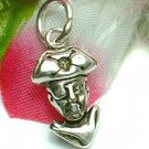 925 STERLING SILVER CAPTAIN PIRATE CHARM / PENDANT