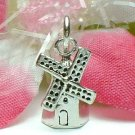 925 STERLING SILVER DUTCH WINDMILL CHARM / PENDANT