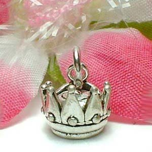 925 STERLING SILVER CROWN CHARM / PENDANT