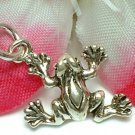 925 STERLING SILVER FROG CHARM / PENDANT