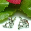 925 STERLING SILVER TROUT FISH STUD EARRINGS