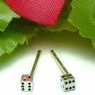 925 STERLING SILVER DICE STUD EARRINGS