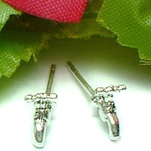 925 STERLING SILVER WATER TAP STUD EARRINGS
