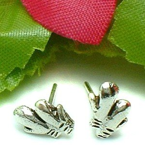 925 STERLING SILVER BOXING GLOVES STUD EARRINGS