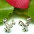 925 STERLING SILVER ROOSTER STUD EARRINGS