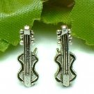 925 STERLING SILVER VIOLIN STUD EARRINGS