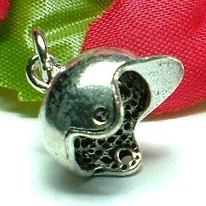 925 STERLING SILVER HORSE RIDING HAT CHARM / PENDANT