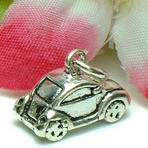 925 STERLING SILVER VW BEETLE CAR CHARM / PENDANT