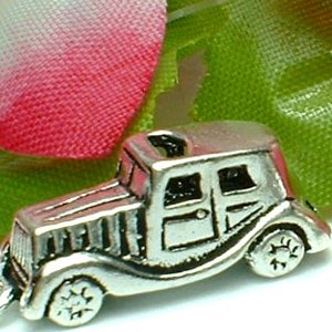 925 STERLING SILVER 1938 ROLLS ROYCE AUTOMOBILE CHARM / PENDANT