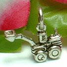 925 STERLING SILVER POWER SHOVEL CHARM / PENDANT