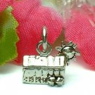 925 STERLING SILVER LITTLE HORSE BARN WITH SUN CHARM / PENDANT