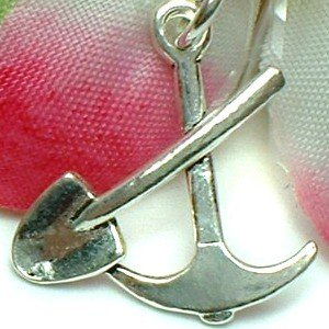 925 STERLING SILVER PICK AND SHOVEL CHARM / PENDANT