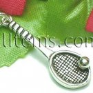 925 STERLING SILVER TENNIS RACKET AND BALL CHARM / PENDANT