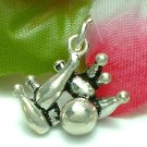 925 STERLING SILVER BOWLING PINS AND BALL CHARM / PENDANT