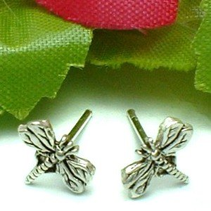 925 STERLING SILVER DRAGONFLY STUD EARRINGS