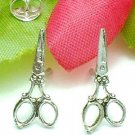 925 STERLING SILVER ANTIQUE SCISSOR STUD EARRINGS