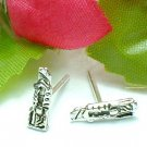 925 STERLING SILVER PEN KNIFE STUD EARRINGS