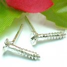 925 STERLING SILVER SCREW BOLT STUD EARRINGS