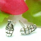 925 STERLING SILVER GRENADE STUD EARRINGS