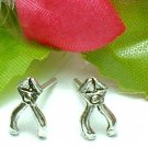 925 STERLING SILVER PLIERS STUD EARRINGS