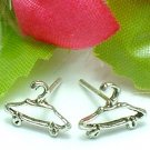 925 STERLING SILVER CLOTHES HANGER STUD EARRINGS
