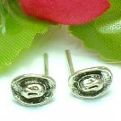 925 STERLING SILVER COWBOY HAT STUD EARRINGS