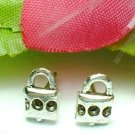 925 STERLING SILVER PADLOCK STUD EARRINGS