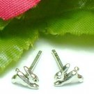 925 STERLING SILVER BUNNY RABBIT STUD EARRINGS