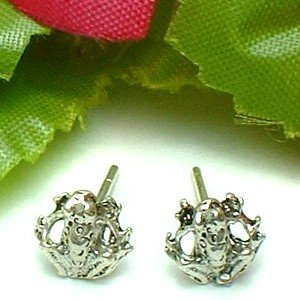 925 STERLING SILVER FROG STUD EARRINGS