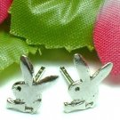 925 STERLING SILVER PLAYBOY BUNNY RABBIT STUD EARRINGS