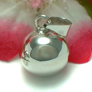 925 STERLING SILVER JINGLE HARMONY BELL BALL CHARM PENDANT