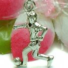925 STERLING SILVER SOCCER PLAYER AFTER BALL CHARM / PENDANT