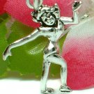 925 STERLING SILVER FEMALE ICE SKATER CHARM / PENDANT
