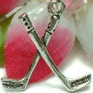 925 STERLING SILVER HOCKEY STICKS CHARM / PENDANT