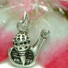 925 STERLING SILVER GOLF ON TEE WITH WEDGE CHARM / PENDANT
