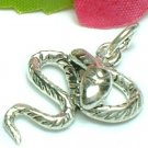 925 STERLING SILVER RATTLE SNAKE CHARM / PENDANT