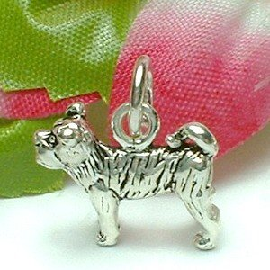 925 STERLING SILVER DOG STANDING CHARM / PENDANT