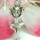 925 STERLING SILVER BALLERINA KITTY CAT CHARM / PENDANT