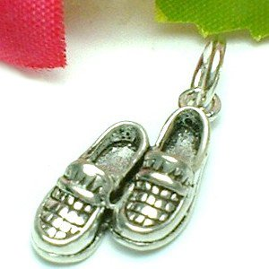 925 STERLING SILVER LOAFER SHOES CHARM / PENDANT