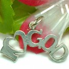 925 STERLING SILVER I LOVE GOD CHARM / PENDANT