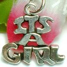 925 STERLING SILVER IT'S A GIRL CHARM / PENDANT