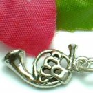 925 STERLING SILVER FRENCH HORN CHARM / PENDANT