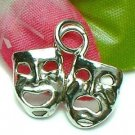 925 STERLING SILVER COMEDY AND TRAGEDY MASK CHARM / PENDANT