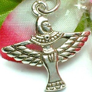 925 STERLING SILVER EGYPTIAN ISIS CHARM / PENDANT