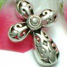 925 STERLING SILVER FILIGREE CROSS CHARM / PENDANT