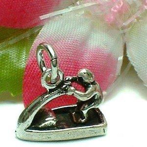 925 STERLING SILVER JET SKI AND RIDER CHARM / PENDANT