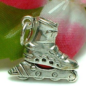 925 STERLING SILVER INLINE SKATE CHARM / PENDANT