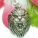 925 STERLING SILVER LION HEAD CHARM / PENDANT